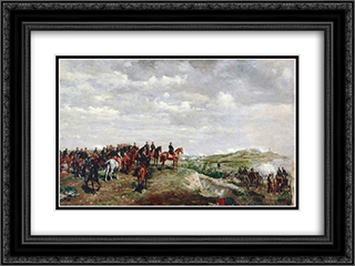Napoleon III at the Battle of Solferino 24x18 Black or Gold Ornate Framed and Double Matted Art Print by Ernest Meissonier