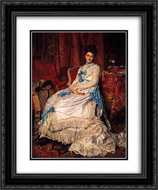 Portrait of Marquesa de Manzanedo 20x24 Black or Gold Ornate Framed and Double Matted Art Print by Ernest Meissonier