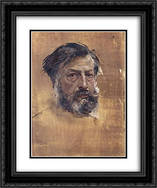 Self-portrait 20x24 Black or Gold Ornate Framed and Double Matted Art Print by Ernest Meissonier