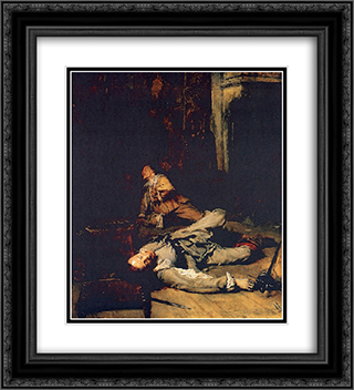 The End of the Game of Cards 20x22 Black or Gold Ornate Framed and Double Matted Art Print by Ernest Meissonier
