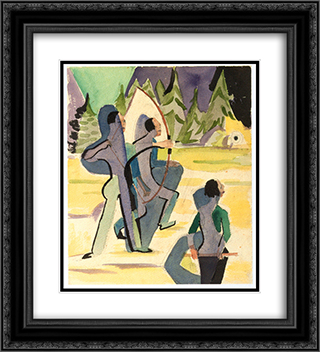 Archer 20x22 Black or Gold Ornate Framed and Double Matted Art Print by Ernst Ludwig Kirchner