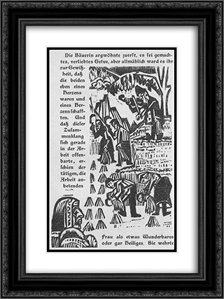 Book illustration side of the military road 18x24 Black or Gold Ornate Framed and Double Matted Art Print by Ernst Ludwig Kirchner