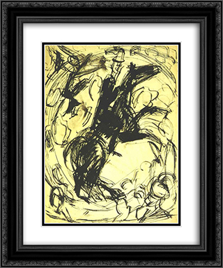Circus Rider 20x24 Black or Gold Ornate Framed and Double Matted Art Print by Ernst Ludwig Kirchner