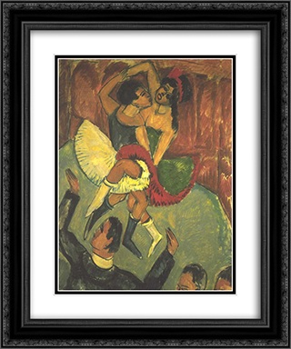 Dance of Negros 20x24 Black or Gold Ornate Framed and Double Matted Art Print by Ernst Ludwig Kirchner