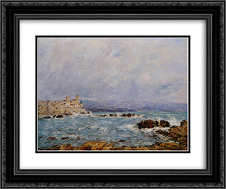 Antibes, the Rocks of the Islet 24x20 Black or Gold Ornate Framed and Double Matted Art Print by Eugene Boudin