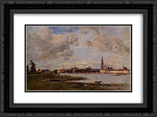 Antwerp, the head of Flanders 24x18 Black or Gold Ornate Framed and Double Matted Art Print by Eugene Boudin