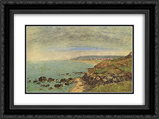 Atlantic coast near Benerville 24x18 Black or Gold Ornate Framed and Double Matted Art Print by Eugene Boudin