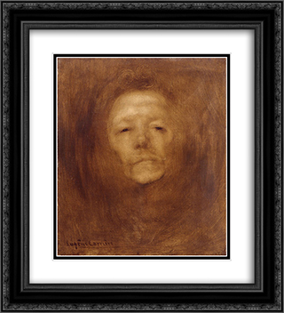 Autoportrait vers 20x22 Black or Gold Ornate Framed and Double Matted Art Print by Eugene Carriere