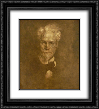 Portrait de Henri Rochefort 20x22 Black or Gold Ornate Framed and Double Matted Art Print by Eugene Carriere