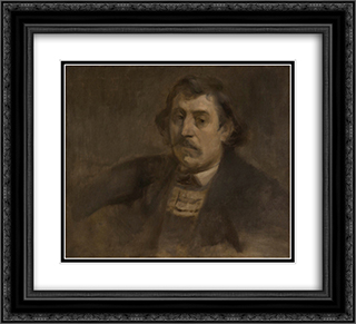 Portrait of Paul Gauguin 22x20 Black or Gold Ornate Framed and Double Matted Art Print by Eugene Carriere