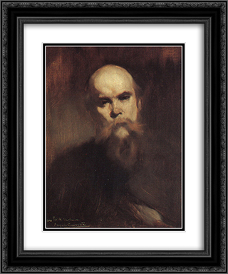 Portrait of Paul Verlaine 20x24 Black or Gold Ornate Framed and Double Matted Art Print by Eugene Carriere