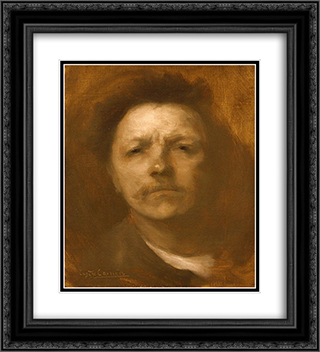 Self-portrait 20x22 Black or Gold Ornate Framed and Double Matted Art Print by Eugene Carriere