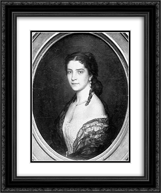 Baroness von Scholl 20x24 Black or Gold Ornate Framed and Double Matted Art Print by Eugene de Blaas