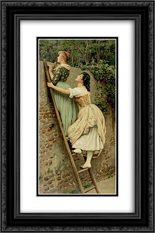 Curiosity 16x24 Black or Gold Ornate Framed and Double Matted Art Print by Eugene de Blaas