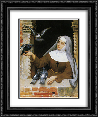 Gods Creatures 20x24 Black or Gold Ornate Framed and Double Matted Art Print by Eugene de Blaas