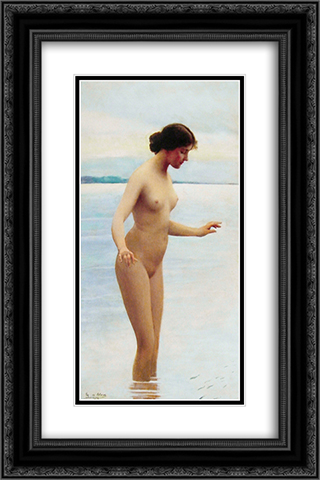 In the water 16x24 Black or Gold Ornate Framed and Double Matted Art Print by Eugene de Blaas