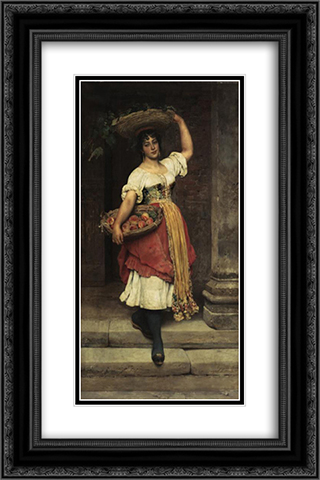 Lisa 16x24 Black or Gold Ornate Framed and Double Matted Art Print by Eugene de Blaas