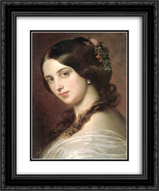Madchenbildnis 20x24 Black or Gold Ornate Framed and Double Matted Art Print by Eugene de Blaas