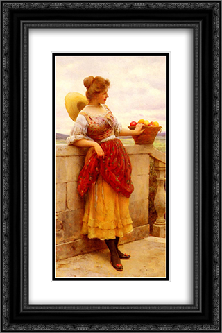 Pleasure 16x24 Black or Gold Ornate Framed and Double Matted Art Print by Eugene de Blaas
