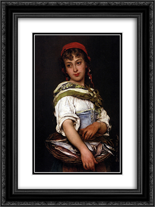 The Days Catch 18x24 Black or Gold Ornate Framed and Double Matted Art Print by Eugene de Blaas