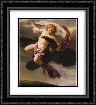 Abduction of Ganymede 20x22 Black or Gold Ornate Framed and Double Matted Art Print by Eustache Le Sueur