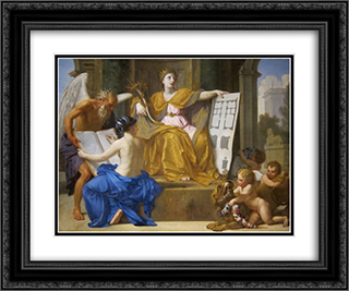 Allegory of Magnificence 24x20 Black or Gold Ornate Framed and Double Matted Art Print by Eustache Le Sueur