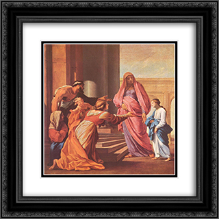Presentation of the Virgin in the Temple 20x20 Black or Gold Ornate Framed and Double Matted Art Print by Eustache Le Sueur