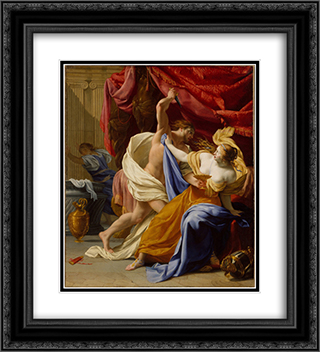 Rape of Tamar 20x22 Black or Gold Ornate Framed and Double Matted Art Print by Eustache Le Sueur