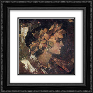 Beatrice 20x20 Black or Gold Ornate Framed and Double Matted Art Print by Fedir Krychevsky