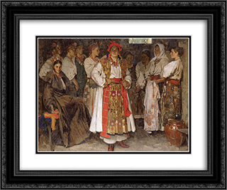 The bride 24x20 Black or Gold Ornate Framed and Double Matted Art Print by Fedir Krychevsky
