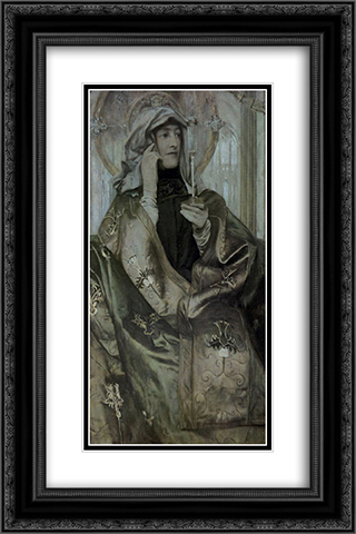 Incens 16x24 Black or Gold Ornate Framed and Double Matted Art Print by Fernand Khnopff