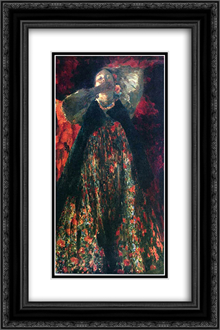 A girl 16x24 Black or Gold Ornate Framed and Double Matted Art Print by Filipp Malyavin