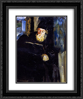 A monk 20x24 Black or Gold Ornate Framed and Double Matted Art Print by Filipp Malyavin