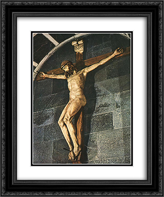 Crucifixion 20x24 Black or Gold Ornate Framed and Double Matted Art Print by Filippo Brunelleschi