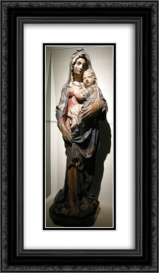 Madonna with Child 14x24 Black or Gold Ornate Framed and Double Matted Art Print by Filippo Brunelleschi