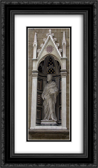 Saint Peter 14x24 Black or Gold Ornate Framed and Double Matted Art Print by Filippo Brunelleschi