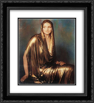 Lady in Gold 20x22 Black or Gold Ornate Framed and Double Matted Art Print by Firmin Baes