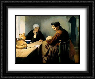 Motherhood 24x20 Black or Gold Ornate Framed and Double Matted Art Print by Firmin Baes
