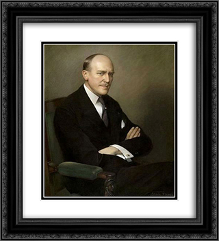 Portrait of Arthur Martin 20x22 Black or Gold Ornate Framed and Double Matted Art Print by Firmin Baes