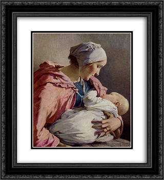 Sweet Dreams 20x22 Black or Gold Ornate Framed and Double Matted Art Print by Firmin Baes
