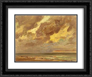 The Sea 24x20 Black or Gold Ornate Framed and Double Matted Art Print by Firmin Baes