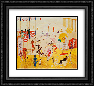Ashbury Park South 22x20 Black or Gold Ornate Framed and Double Matted Art Print by Florine Stettheimer