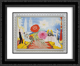 Family Portrait, II 24x20 Black or Gold Ornate Framed and Double Matted Art Print by Florine Stettheimer
