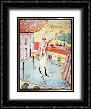 Portrait of My Sister, Carrie W. Stettheimer 20x24 Black or Gold Ornate Framed and Double Matted Art Print by Florine Stettheimer