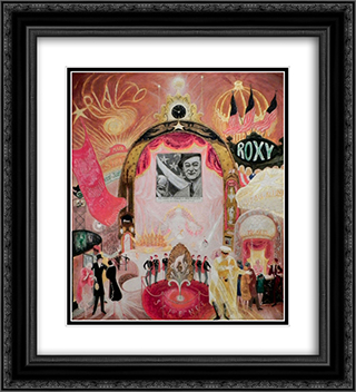 The Cathedrals of Broadway 20x22 Black or Gold Ornate Framed and Double Matted Art Print by Florine Stettheimer
