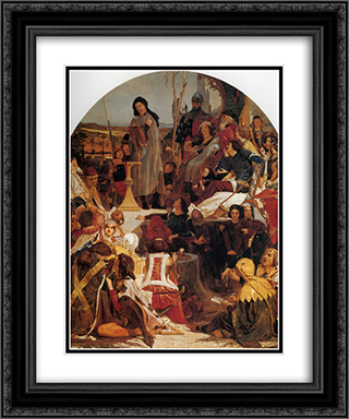 Chaucer at the Court of Edward III 20x24 Black or Gold Ornate Framed and Double Matted Art Print by Ford Madox Brown