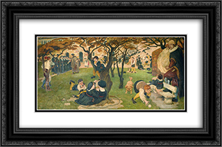Chetham's Life Dream 24x16 Black or Gold Ornate Framed and Double Matted Art Print by Ford Madox Brown