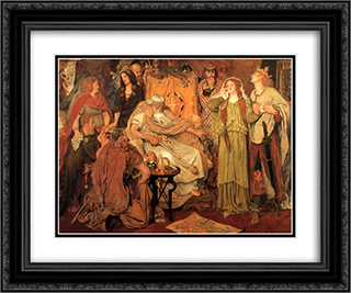 Cordelia's Portion 24x20 Black or Gold Ornate Framed and Double Matted Art Print by Ford Madox Brown