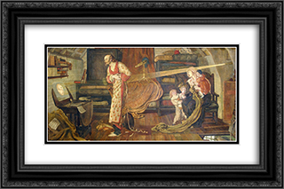 Crabtree watching the Transit of Venus in 1639 24x16 Black or Gold Ornate Framed and Double Matted Art Print by Ford Madox Brown
