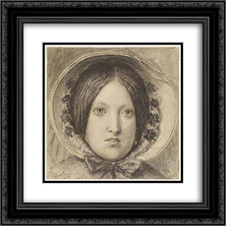 Emma Hill 20x20 Black or Gold Ornate Framed and Double Matted Art Print by Ford Madox Brown